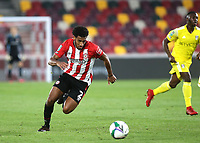 Dominic Thompson of Brentford in action during Brentford vs Fulham, Caraboa Cup Football at the Brentford Community Stadium on 1st October 2020