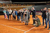 Februari 04, 2015, Apeldoorn, Omnisport, Fed Cup, Netherlands-Slovakia, Clinic met Jacco Eltingh<br /> Photo: Tennisimages/Henk Koster