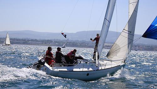 Beneteau 211 racing on Dublin Bay