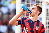 KANSAS CITY, KS - JULY 18: James Sands #16 of United States during a game between Canada and USMNT at Children's Mercy Park on July 18, 2021 in Kansas City, Kansas.