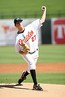 Brian Matusz / Surprise Rafters 2008 Arizona Fall League - pitching in his first professional game against the Mesa Solar Sox at Surprise Stadium - 10/11/2008...Photo by:  Bill Mitchell/Four Seam Images