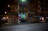 April 18, 2020<br /> New York, New York<br /> Lower East side<br /> <br /> Closed businesses on a Saturday night on the lower east side during the time of the cononavirus pandemic.