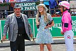June 5, 2021: Lone Rock, #9, ridden by jockey Ramon Vazquez wins the Brooklyn Stakes on Belmont Stakes Day at the Belmont Stakes Festival at Belmont Park in Elmont, New York. Sue Kawcyznski/Eclipse Sportswire/CSM