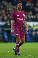 Raheem Sterling of Manchester City look dejected during the Fly Emirates FA Cup Fourth Round match between Cardiff City and Manchester City at the Cardiff City Stadium, Wales, UK. Sunday 28 January 2018