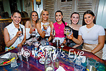 Enjoying the evening in Benners Hotel on Saturday, l to r: Ellen O'Brien, Courtney Hurley, Cliona Crowley, Sarah Falvey, Anna Sugrue and Eimer McCarthy.