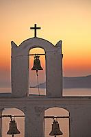 The sunset from Agios Minas in Santorini island, Greece