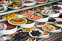 Display of Tapas, Madrid, Spain