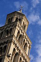 Europe/Croatie/Dalmatie/Split: Campanile   roman de la cathédrale