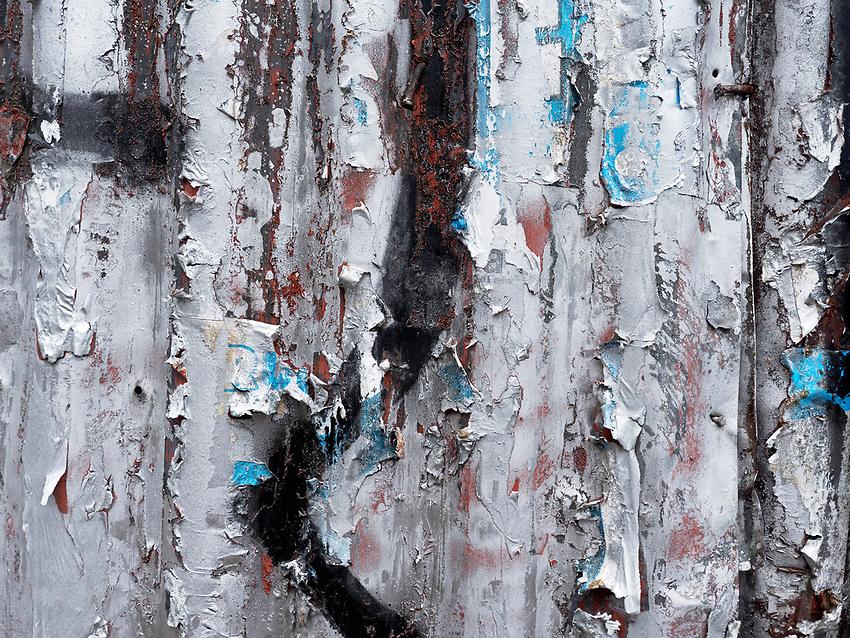 Corrugated iron fence, Background, Street Photography, Cebu City, Philippines