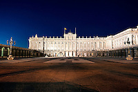 Royal Palace at night, Madrid, Spain