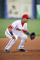 Harrisburg Senators third baseman Drew Ward (17) during a game against the Bowie Baysox on May 16, 2017 at FNB Field in Harrisburg, Pennsylvania.  Bowie defeated Harrisburg 6-4.  (Mike Janes/Four Seam Images)