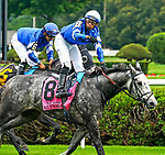 July 17, 2021: Jockey Manny Franco celebrates aboard Althiqa #8, after winning the Diana Stakes (Grade 1) for fillies and mares four years and upward at Saratoga Race Course in Saratoga Springs, New York on July 17, 2021. Dan Heary/Eclipse Sportswire/CSM