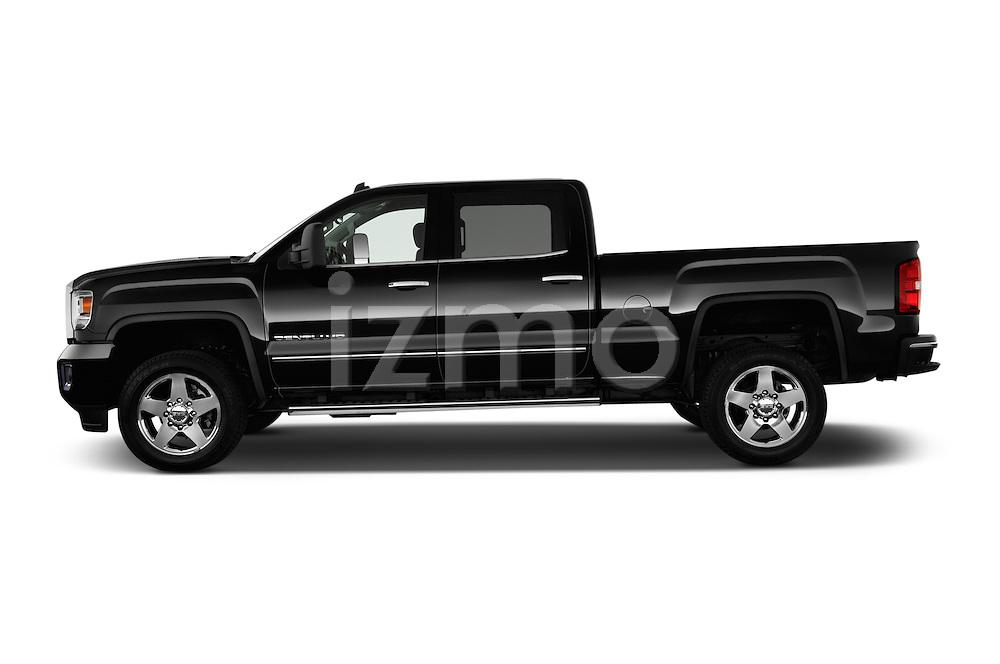 4Door Truck Side View of 2015 GMC Sierra 2500 SLT Stock Photo