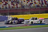 #46: Brandon Jones, Kyle Busch Motorsports, Toyota Tundra Mobil 1, #10: Jennifer Jo Cobb, Jennifer Jo Cobb Racing, Chevrolet Silverado Think Realty