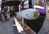 "Smart Munitions (missile) on display at the """"Modern Marine """" Military arms trade show at Quantico, Virginia. Quantico Virginia."