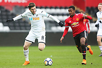 Sunday 18 March 2018<br /> Pictured:  Adnan Maric of Swansea City<br /> Re: Swansea City v Manchester United U23s in the Premier League 2 at The Liberty Stadium on March 18, 2018 in Swansea, Wales.