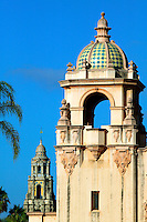 Casa del Prado and Theater and the The California Tower, Balboa Park, San Diego, California