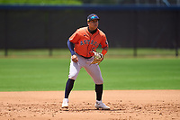 Houston Astros JC Correa (57) during a Minor League Spring Training game against the Washington Nationals on April 27, 2021 at FITTEAM Ballpark of the Palm Beaches in Palm Beach, Fla.  (Mike Janes/Four Seam Images)