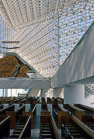 Philip Johnson: Crystal Cathedral--Pews, Interior. Photo '80.