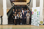 Winners of African American National Spelling Bee Championships receive awards at State Capitol.