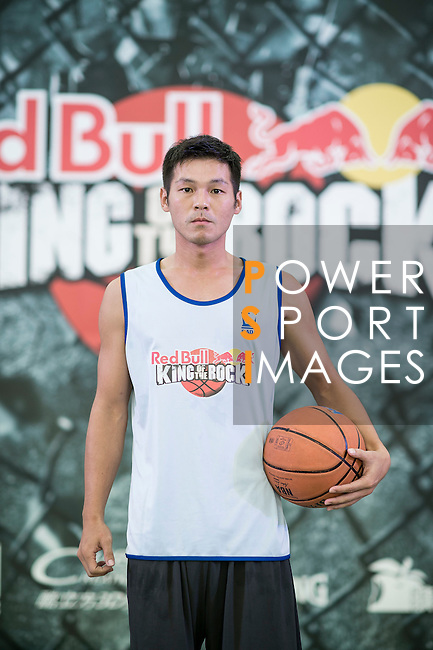 Simbolt poses for a portrait ahead the Red Bull King of the Rock Taiwan National Finals on July 18, 2015 at the Kaohsiung University basketball court in Kaohsiung, south Taiwan. Photo by Victor Fraile / Power Sport Images