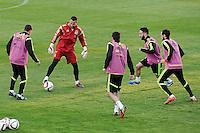 Spanish National Team's  training at Ciudad del Futbol stadium in Las Rozas, Madrid, Spain. In the pic: Koke, Sergio Asenjo, Cervajal and Juanfran. March 25, 2015. (ALTERPHOTOS/Luis Fernandez) /NORTEphoto.com