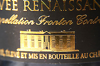 Bottle of Chateau Cransac Cuvee Renaissance Fronton Haut-Garonne France