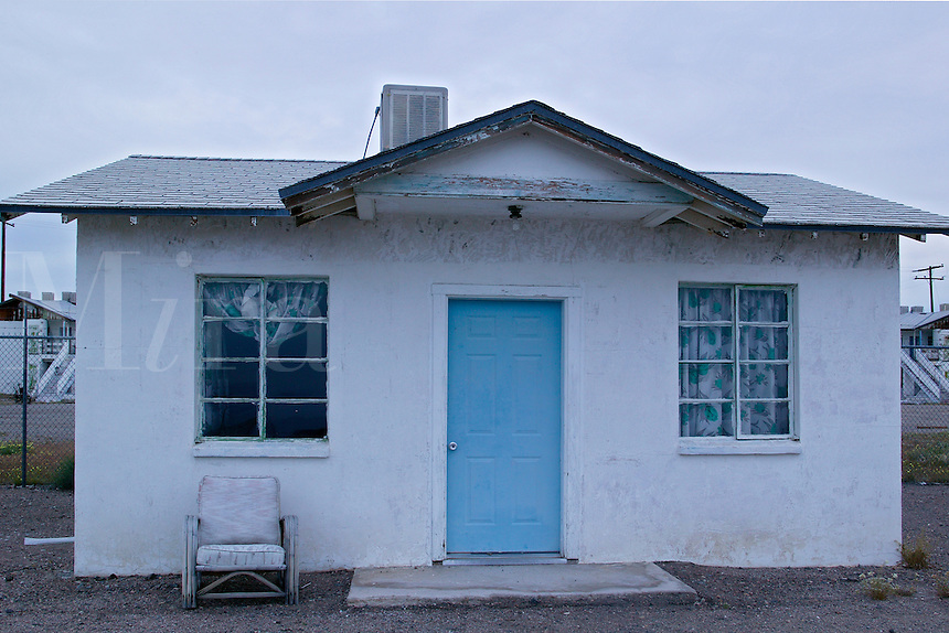 A room at Roy's Cafe, motel and gas station along Route 66, Amboy, California