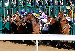 April 03, 2021:  Start of the Ashland Stakes.<br /> #5 Malathaat and jockey Joel Rosario (outside) win the 84th running of the Central Bank Ashland Grade 1 $400,000 for owner Shadwell Stable and trainer Todd Pletcher over #2 Pass the Champagne riddern by Javier Castellano at Keeneland Racecourse in Lexington, KY on April 03, 2021.  Candice Chavez/ESW/CSM