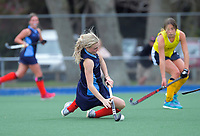 Action from the 2020 Lower North Island Girls Hockey Premiership match between Queen Margaret College and Palmerston North Girls' High School at Fitzherbert Park Twin Turfs in Palmerston North, New Zealand on Tuesday, 1 September 2020. Photo: Dave Lintott / lintottphoto.co.nz