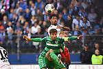 05.10.2019,  GER; 2. FBL, Hamburger SV vs SpVgg Greuther Fuerth ,DFL REGULATIONS PROHIBIT ANY USE OF PHOTOGRAPHS AS IMAGE SEQUENCES AND/OR QUASI-VIDEO, im Bild Jeremy Dudziak (Hamburg #08) versucht sich gegen Marco Caligiuri (Fuerth #13) durchzusetzen Foto © nordphoto / Witke *** Local Caption ***