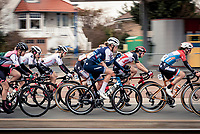 Ellen van Dijk (NED/Trek-Segafredo) snacking at full speed<br /> <br /> AG Driedaagse Brugge-De Panne 2020 (1.WWT)<br /> 1 day race from Brugge to De Panne (156km) <br /> <br /> ©kramon