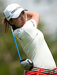 CHON BURI, THAILAND - FEBRUARY 18:  In Kyung Kim of South Korea tees off on the 4th hole during day two of the LPGA Thailand at Siam Country Club on February 18, 2011 in Chon Buri, Thailand.  Photo by Victor Fraile / The Power of Sport Images