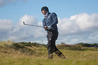 1st October 2021; Kingsbarns Golf Links, Fife, Scotland; European Tour, Alfred Dunhill Links Championship, Second round; Guido Migliozzi of Italy watches his ball after playing from the rough on the fifth hole at Kingsbarns Golf Links