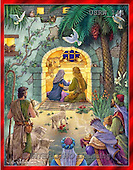 Randy, HOLY FAMILIES, HEILIGE FAMILIE, SAGRADA FAMÍLIA, paintings+++++Peaceful-Nativity,USRW144,#xr#