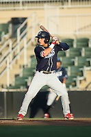 Emmanuel Marrero (16) of the Lakewood BlueClaws at bat against the Kannapolis Intimidators at Kannapolis Intimidators Stadium on August 11, 2016 in Kannapolis, North Carolina.  The Intimidators defeated the BlueClaws 3-1.  (Brian Westerholt/Four Seam Images)