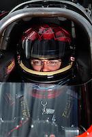 Oct. 31, 2008; Las Vegas, NV, USA: NHRA top fuel dragster driver Joe Hartley during qualifying for the Las Vegas Nationals at The Strip in Las Vegas. Mandatory Credit: Mark J. Rebilas-