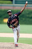 August 8, 2009:  Outfielder/Pitcher Deshun Dixon (10) of the Baseball Factory team during the Under Armour All-America event at Wrigley Field in Chicago, IL.  Photo By Mike Janes/Four Seam Images