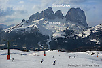 Belvedere Ski Area with Sasslungo behind, Canazei, Italy HP Winter Games 2014,