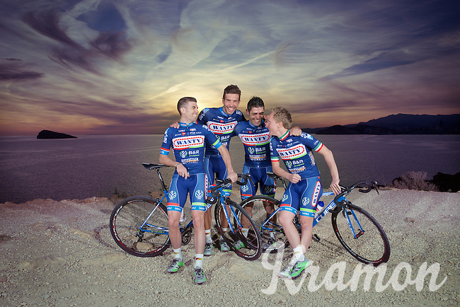 Official Team Photo<br /> <br /> Pro Cycling Team Wanty-Groupe Gobert<br /> 2016 pre-season training camp in Alicante, Spain