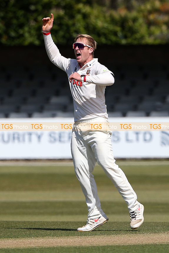 Simon Harmer of Essex appeals for a wicket during Essex CCC vs Durham CCC, LV Insurance County Championship Group 1 Cricket at The Cloudfm County Ground on 18th April 2021