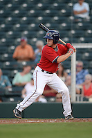 Fort Myers Miracle catcher Alex Swim (17) at bat during a game against the Tampa Yankees on April 15, 2015 at Hammond Stadium in Fort Myers, Florida.  Tampa defeated Fort Myers 3-1 in eleven innings.  (Mike Janes/Four Seam Images)