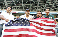 USA fans. USA defeated Grenada 4-0 during the First Round of the 2009 CONCACAF Gold Cup at Qwest Field in Seattle, Washington on July 4, 2009.
