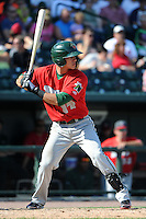 Fort Wayne TinCaps outfielder Alberth Martinez (14) during a game against the Great Lakes Loons on August 18, 2013 at Dow Diamond in Midland, Michigan.  Fort Wayne defeated Great Lakes 4-3.  (Mike Janes/Four Seam Images)