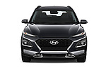 Car photography straight front view of a 2020 Hyundai Kona Hybrid Sky 5 Door SUV