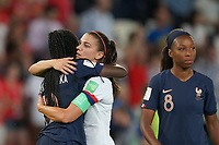 PARIS, FRANCE - JUNE 28: Alex Morgan #13 during a 2019 FIFA Women's World Cup France quarter-final match between France and the United States at Parc des Princes on June 28, 2019 in Paris, France.