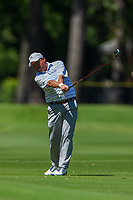 May 2nd 2021; The Woodlands, Texas, USA;  Olin Browne hits his second shot on 5 during final round  of the 2021 Insperity Invitational at The Woodlands Country Club on May 2, 2021 in The Woodlands, Texas.