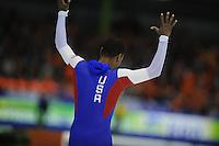 SCHAATSEN: HEERENVEEN: IJsstadion Thialf, 14-02-15, World Single Distances Speed Skating Championships, 1000m Men, Shani Davis (USA), ©foto Martin de Jong