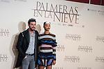 """Mario Casas and Berta Vazquez during the presentation of the film """"Palmeras en la nieve"""" in Madrid, December 16, 2015. <br /> (ALTERPHOTOS/BorjaB.Hojas)"""