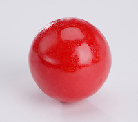 Single large red bubble gum bal